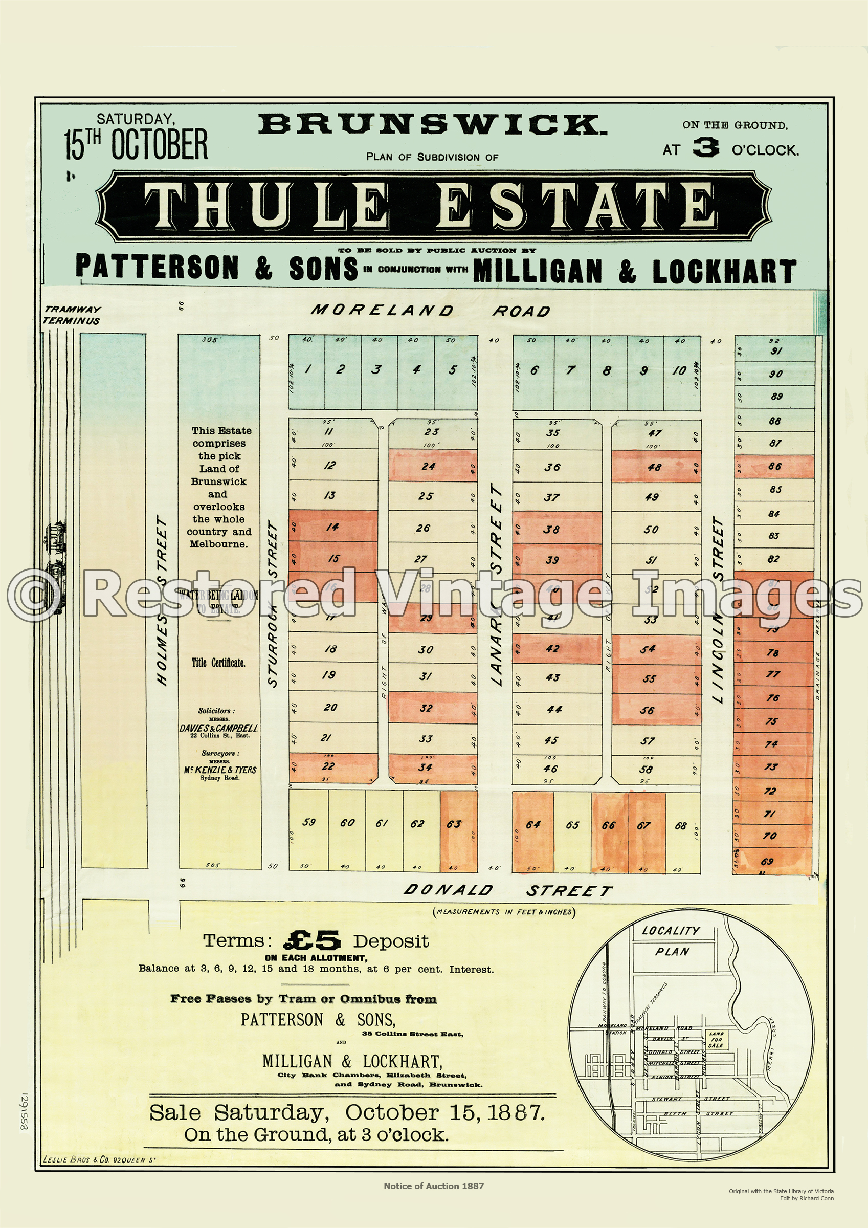Thule Estate 15th October 1887 – Brunswick East