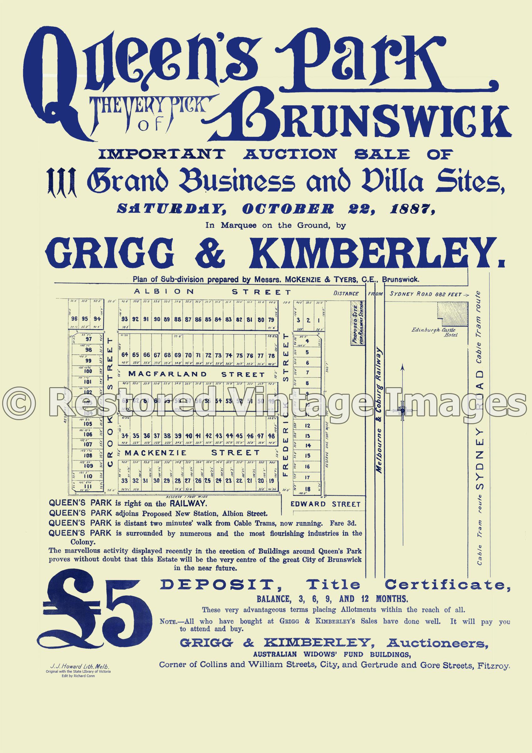 Queen's Park 22nd October 1887 – Brunswick