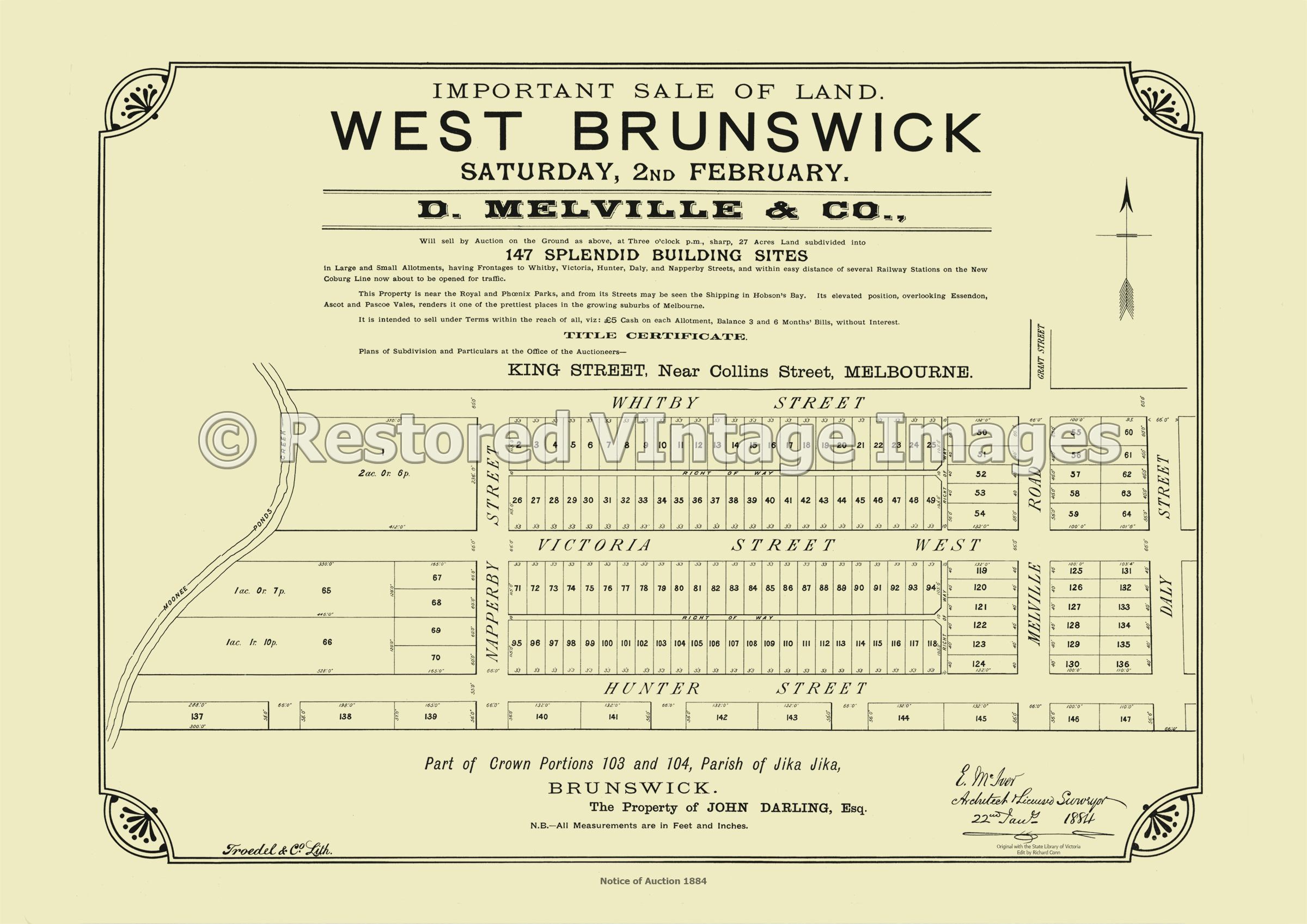 West Brunswick 2nd February 1884 – Brunswick West