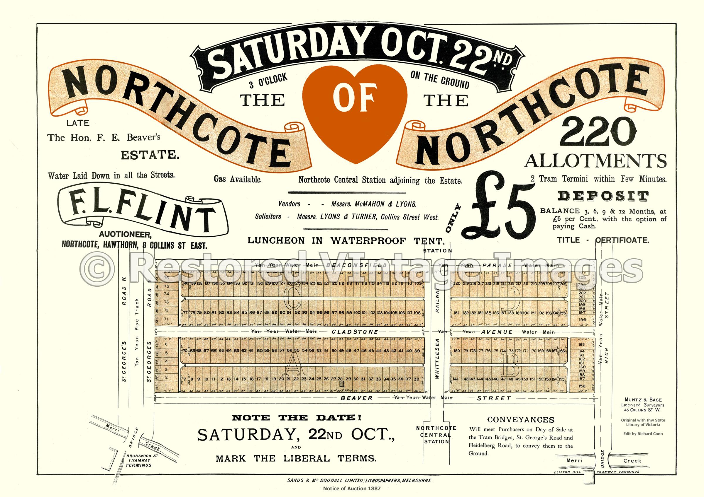 The Heart Of Northcote 22 October 1887 – Northcote