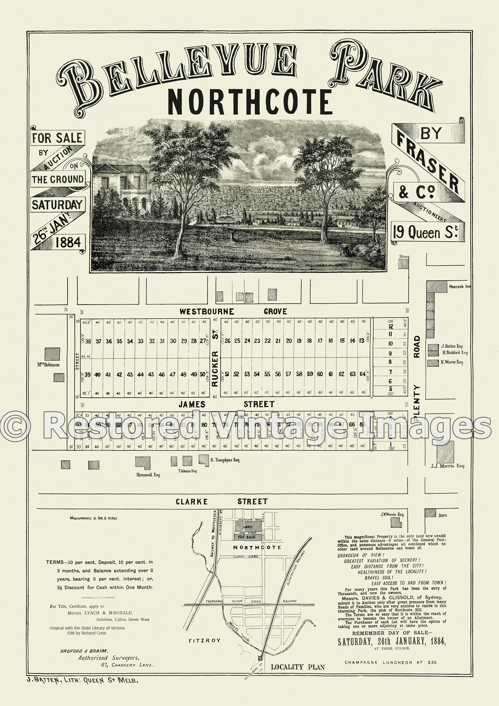 Bellevue Park 26th January 1884 – Northcote