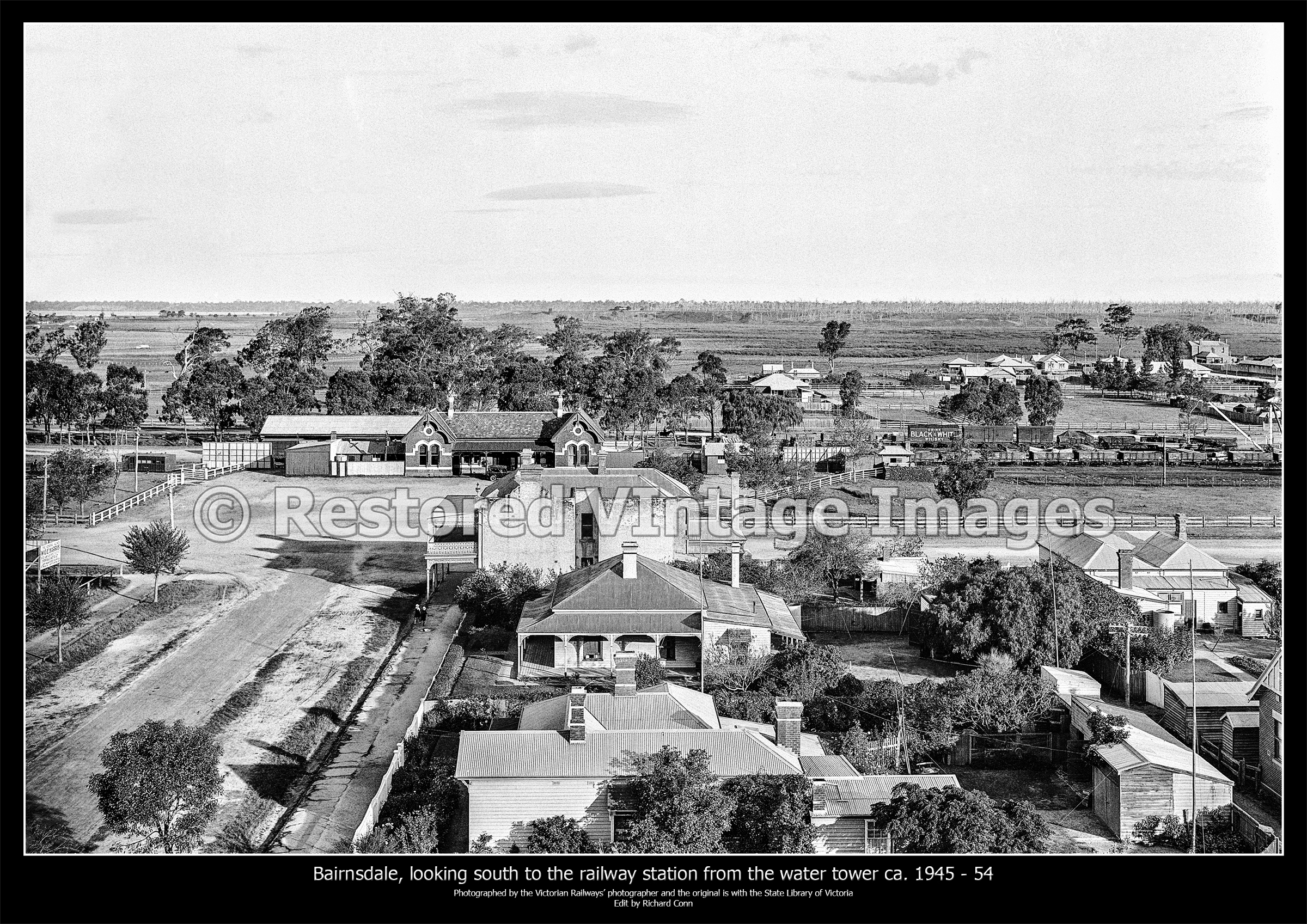 Bairnsdale, Looking South To The Railway Station Ca. 1945 – 54