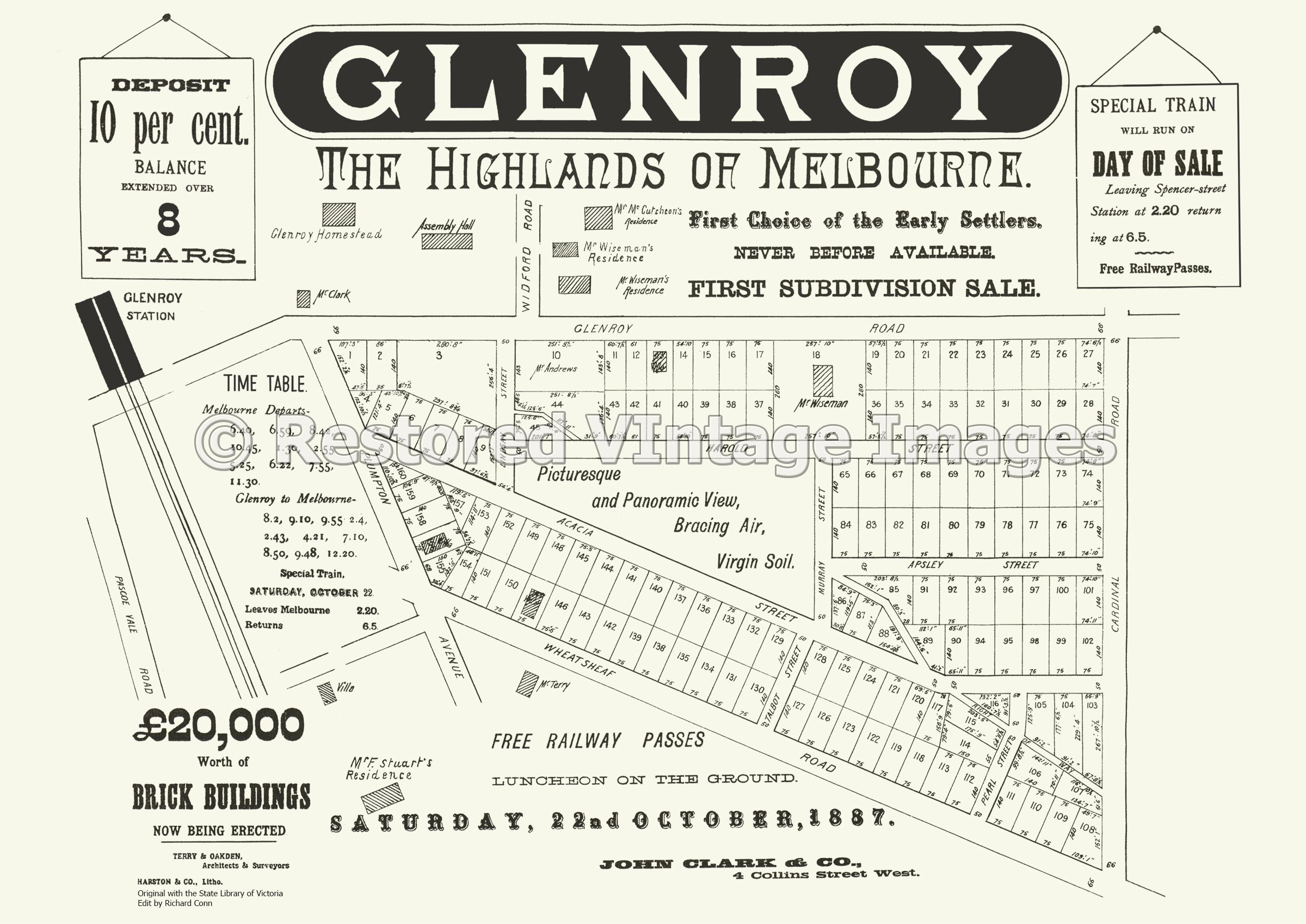 The Highlands Of Melbourne 22nd October 1887 – Glenroy