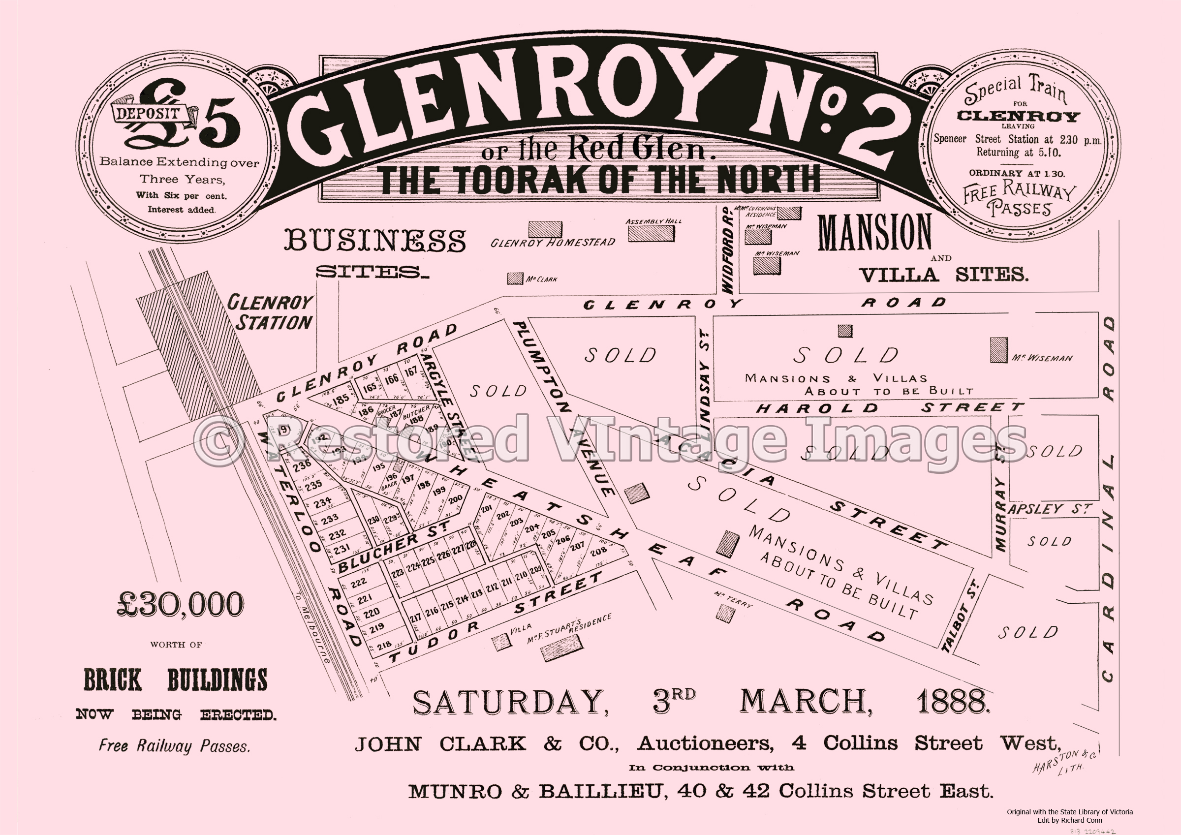 Glenroy No. 2 The Toorak Of The North 3rd March 1888 – Glenroy