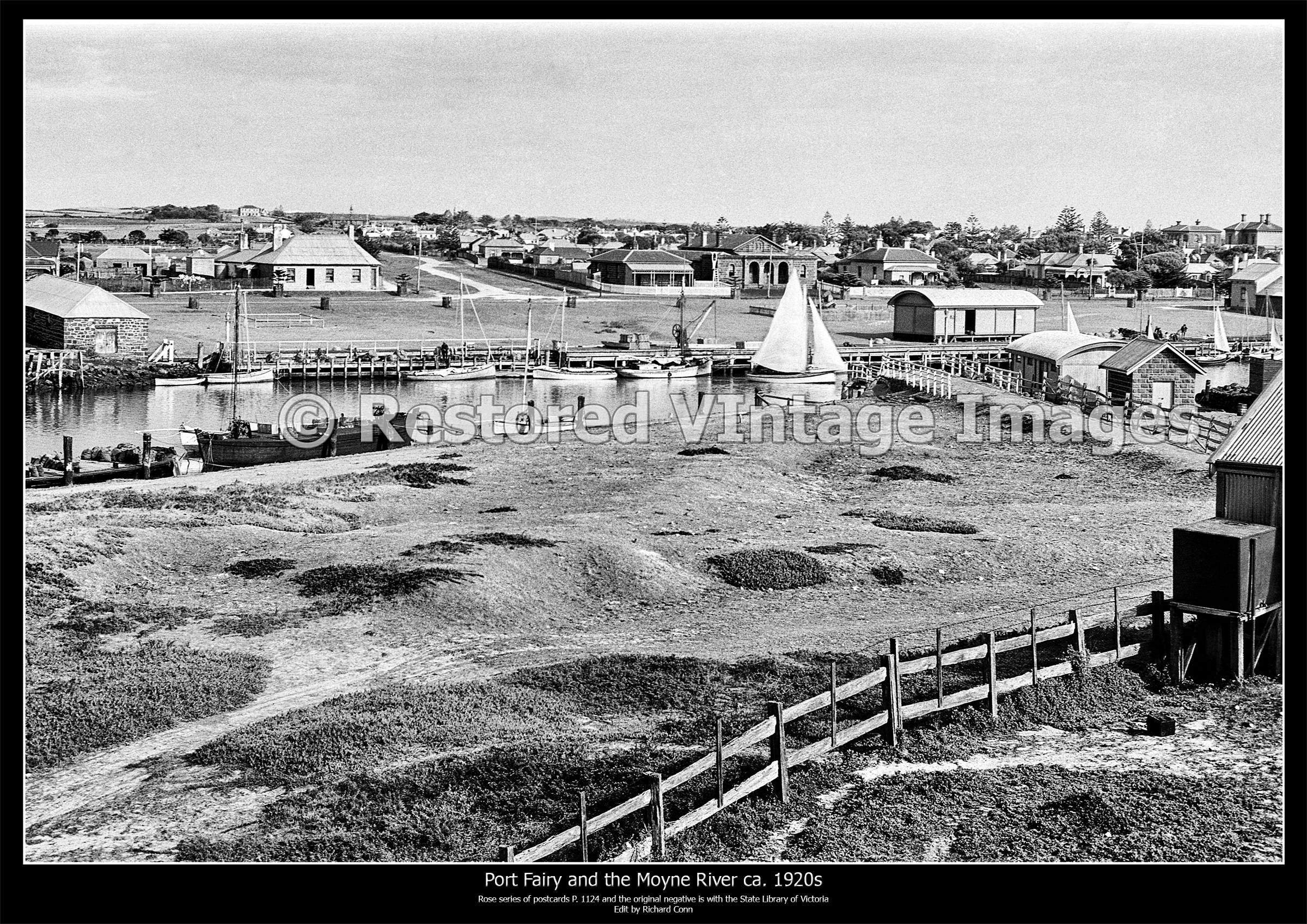 Port Fairy And The Moyne River Ca 1920s