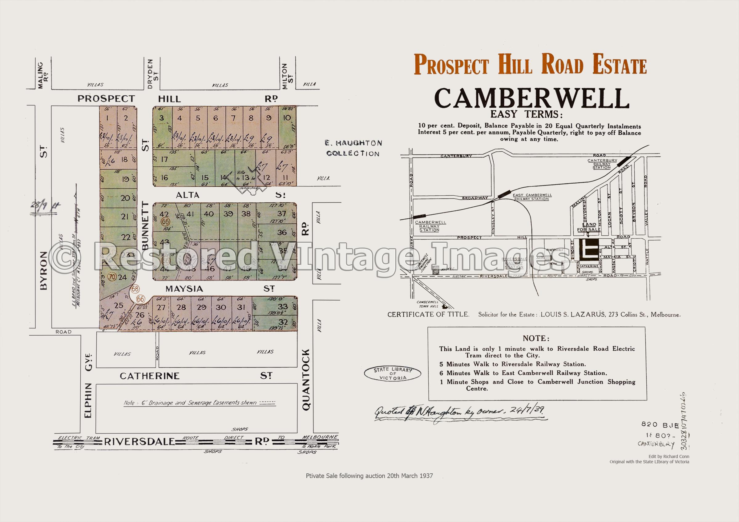 Prospect Hill Road Estate Camberwell 20th March 1937 – Canterbury
