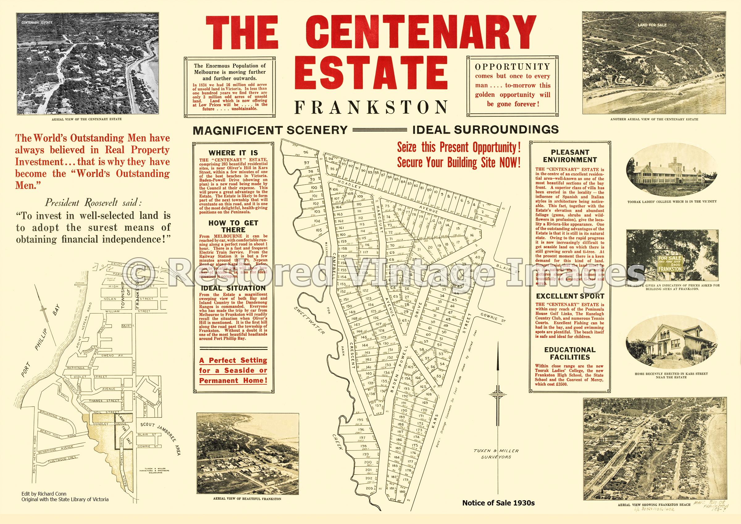 The Centenary Estate 1930s – Frankston South