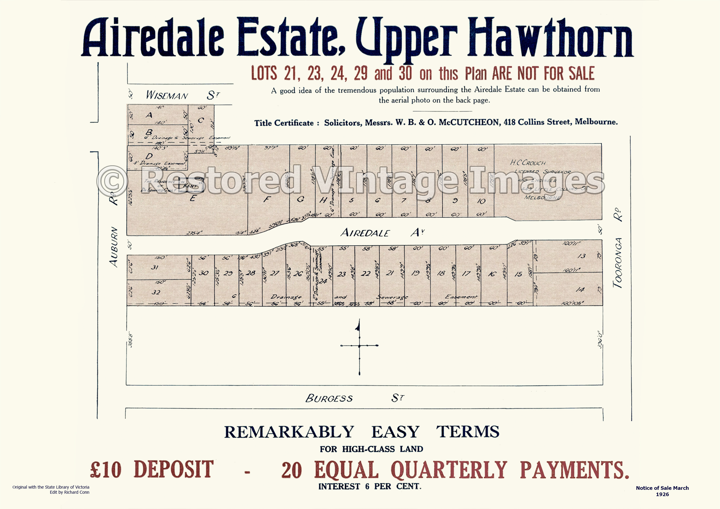 Airedale Estate 27th March Upper Hawthorn – Hawthorn East