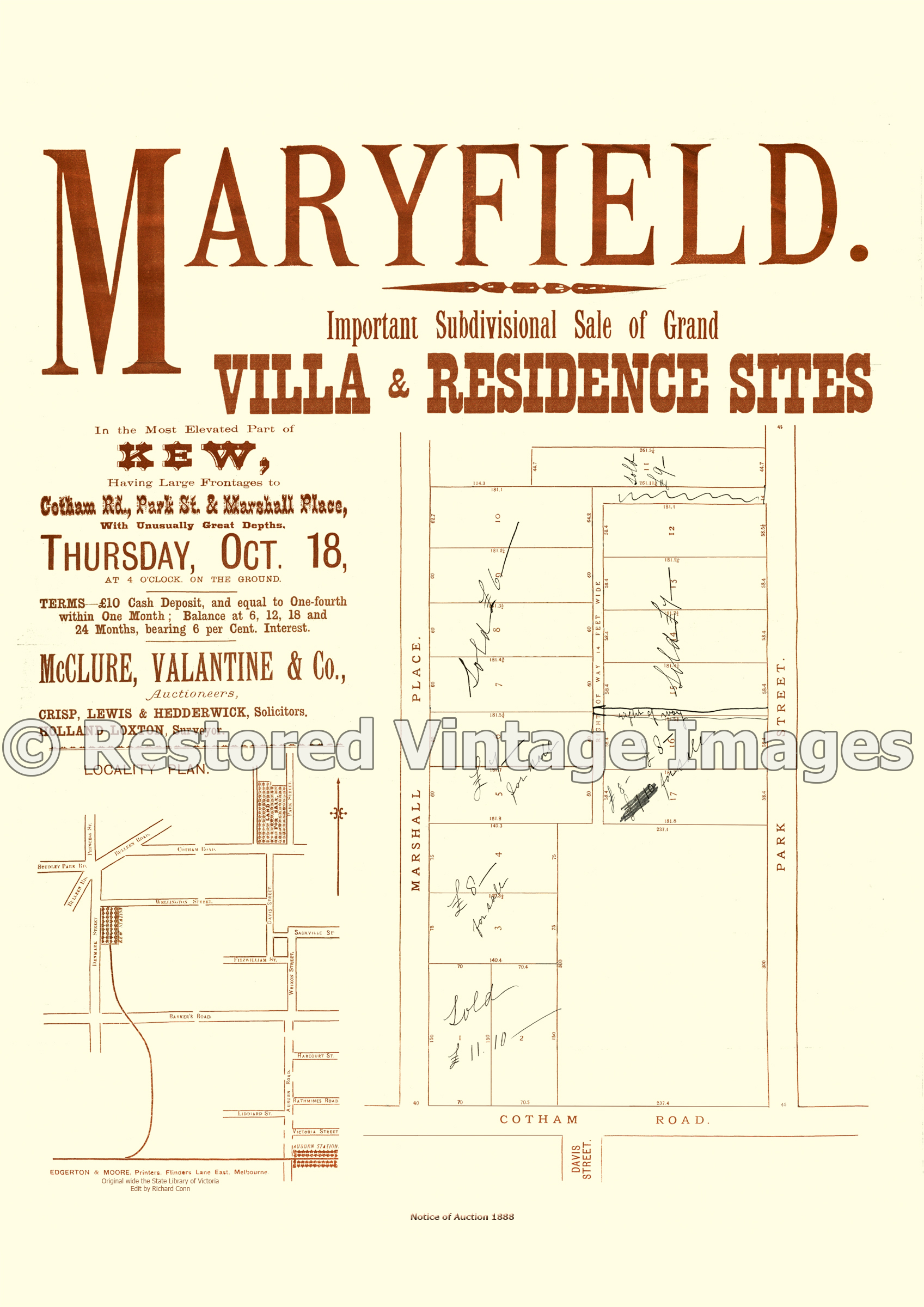 Maryfield, 18th Of October 1888 – Kew