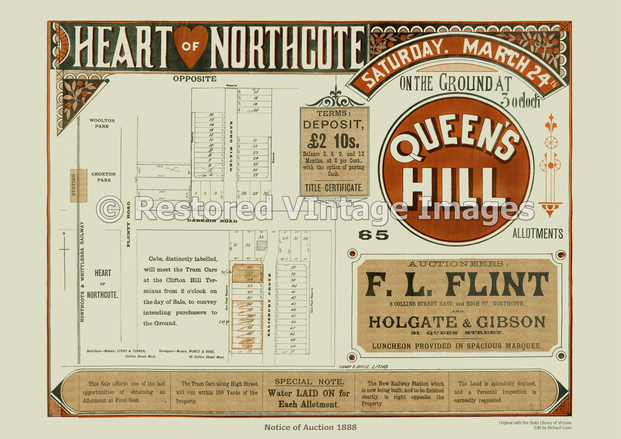 Queen's Hill- Heart Of Northcote 24th Of March 1888 – Thornbury