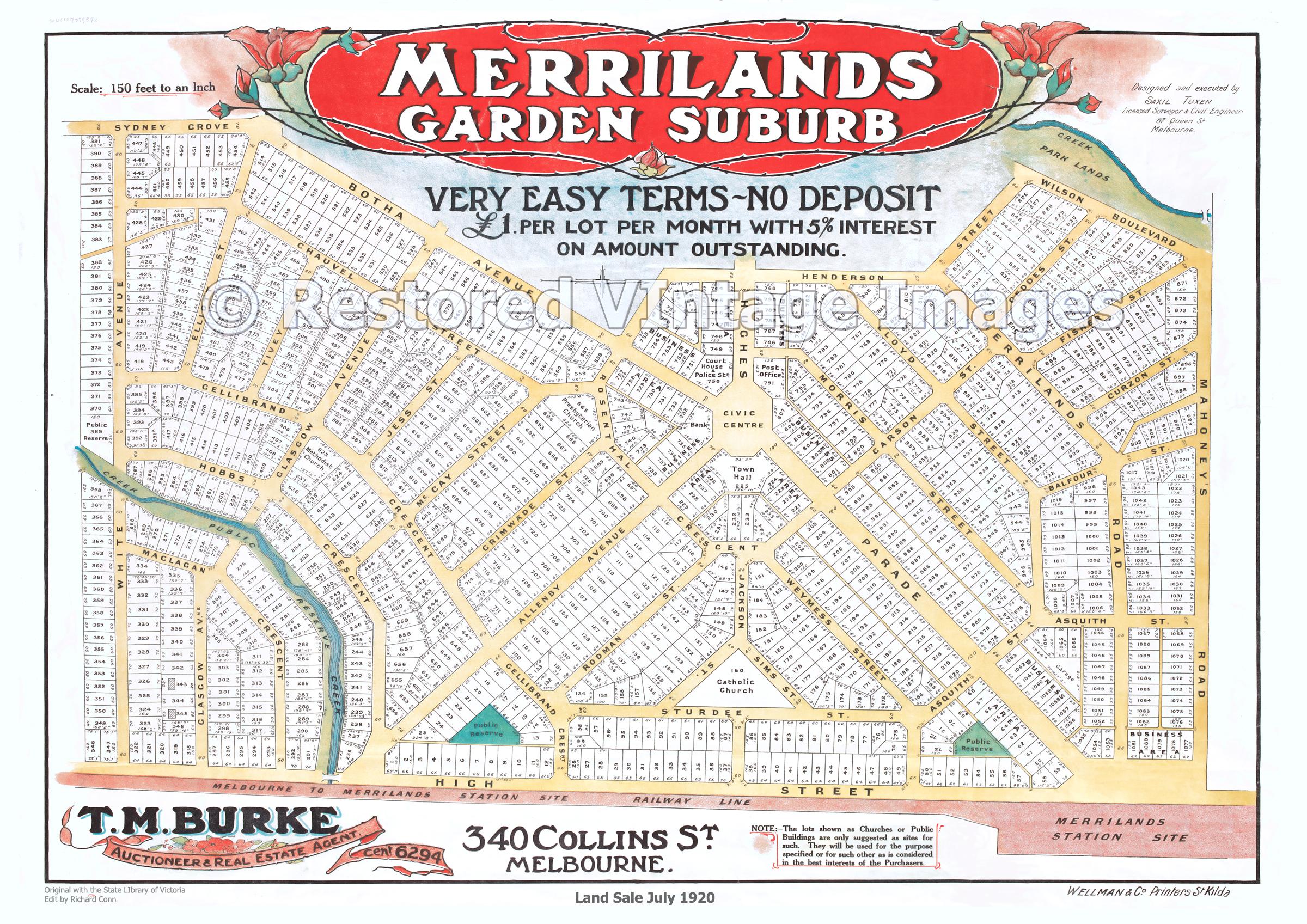Merrilands Garden Suburb July 1920 – Reservoir