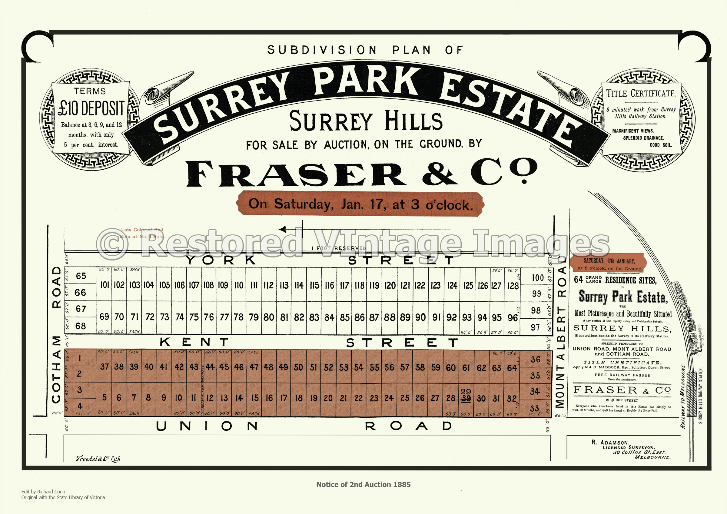 Surrey Park Estate 17th January 1885- Surrey Hills