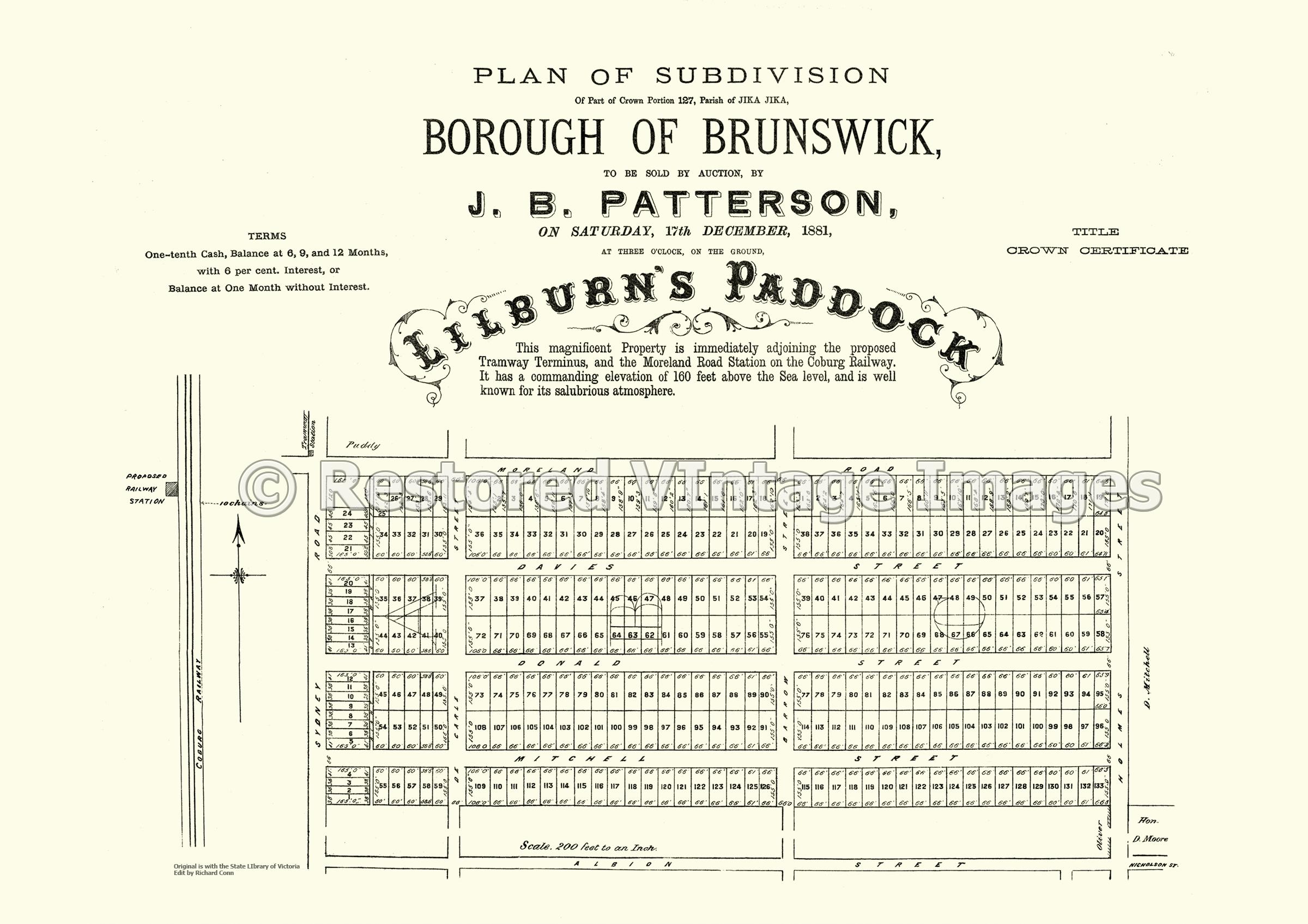 Lilburn's Paddock 17th December 1881 – Brunswick