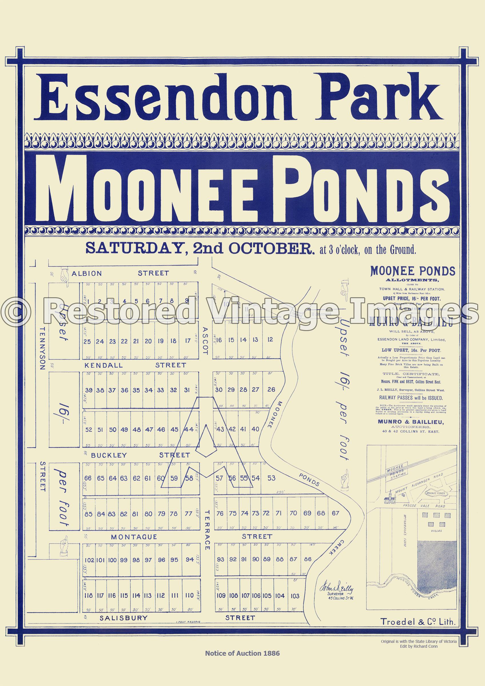 Essendon Park Moonee Ponds 2nd Of October 1886 – Essendon